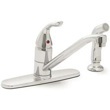 Caliber Single Handle Kitchen Faucet with Spray