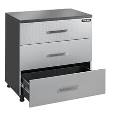 "Black and Decker Garage 32.75"" H x 31.25"" W x 19.63"" W Drawer Base Cabinet"