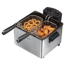 2.84 Liter Dual Basket Deep Fryer