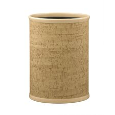 "Natural Cork 12"" Oval Waste Basket"