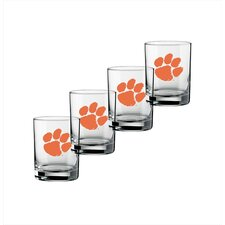 Collegiate 14 Oz Clemson Glass (Set of 4)