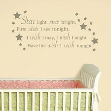 Baby Star Light, Star Bright Wishes Wall Decal