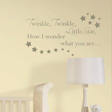 Baby Twinkle, Twinkle Nursery Rhyme 23 Piece Wall Decal Set
