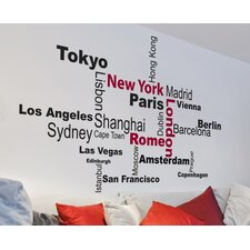 Home Decor Line Favorite Cities Quote Wall Decal