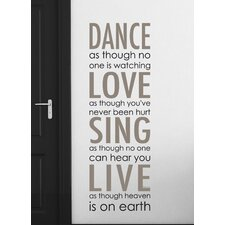 Home Decor Line Dance Love Sing Quote Wall Decal