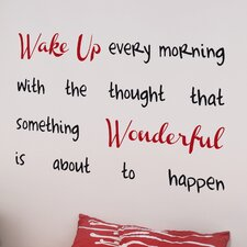 Home Decor Line Wake Up Quote Wall Decal