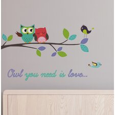 Home Decor Line Owl You Need is Love Wall Decal