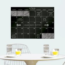 Monthly Dry Erase Calendar Chalkboard Wall Decal