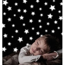 Home Decor Line Stars Glow in The Dark Wall Decal