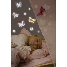 Home Decor Line Spring Butterflies Glow in The Dark Wall Decal