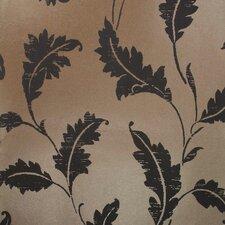"Savoy 33' x 20.5"" Leaf Trail Floral Embossed Wallpaper"