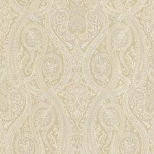 "Joseph Abboud Designed 33' x 20.5"" Paisley Embossed Wallpaper"