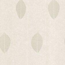 "Joseph Abboud Designed 33' x 20.5"" Leaf Floral Embossed Wallpaper"