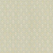 """Kitchen and Bath Resource II Bare 33' x 20.5"""" Damask Embossed Wallpaper"""