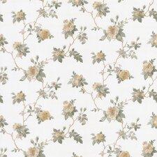 "Satin Rose 33' x 20.5"" Magnolia Trail Floral Embossed Wallpaper"