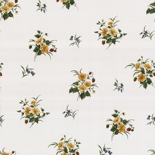 """Kitchen and Bath Resource II 33' x 20.5"""" Strawberry Floral Embossed Wallpaper"""