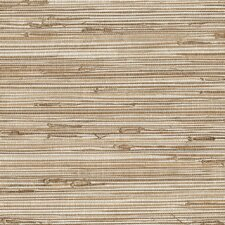 "Grasscloth 33' x 20.5"" Stripe Embossed Wallpaper"