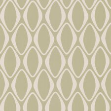 "Echo Design 33' x 20.5"" Diamond Geometric Embossed Wallpaper"