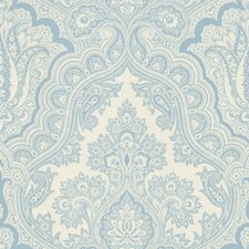 "Echo Design 33' x 20.5"" Damask Embossed Wallpaper"