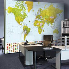 Ideal Decor Map of The World Large Wall Mural