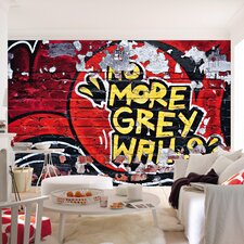 Ideal Decor No More Grey Wall Mural
