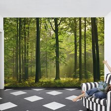 Ideal Decor Autumn Forest Wall Mural