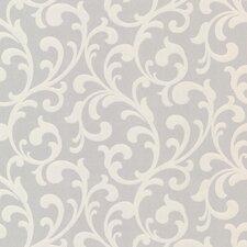 "Elements Catasse 33' x 20.5"" Scroll Embossed Wallpaper"