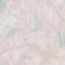 """Kitchen & Bath Resource III Varley Large Brushstrokes 33' x 20.5"""" Abstract Embossed Wallpaper"""