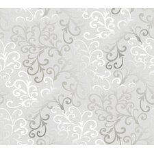 "Christel 27' x 27"" Fading Busy Toss Scroll Embossed Wallpaper"