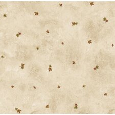 "Pure Country 33' x 20.5"" Hunter Toss Maple Leaf Embossed Wallpaper"