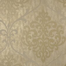 "Sparkle Ambrosia Glitter Damask 33' x 20.5"" Wallpaper"