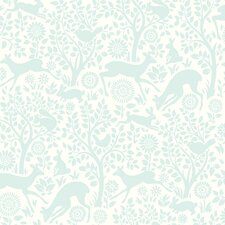 "Hide and Seek Anahi Forest Fauna 33' x 20.5"" Wallpaper"