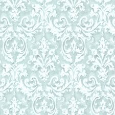 "Rosemore Aurora Damask 33' x 20.5"" Wallpaper"