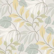 "Bath Bath Bath Volume IV Clementine Modern Leaf Trail 33' x 20.5"" Wallpaper"
