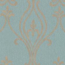 """Prism Luca Damask 33' x 20.5"""" Wallpaper"""