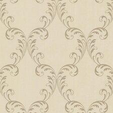 """Sparkle Quill Ironwork Leaf 33' x 20.5"""" Wallpaper"""