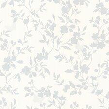 "Bath Bath Bath Volume IV Layla Floral Trail Silhouette 33' x 20.5"" Wallpaper"