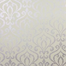 "Sparkle Venus Foil Mini Damask 33' x 20.5"" Wallpaper"