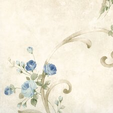 "Meadowlark Escot Tearose Acanthus 33' x 20.5"" Wallpaper"