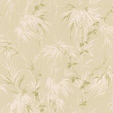 """Bath Bath Bath Volume IV Nessa Satin Leaf Motif 33' x 20.5"""" Wallpaper"""