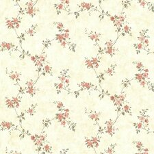 "Countryside Rose Valley Floral Trail 33' x 20.5"" Wallpaper"