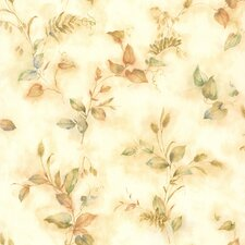 """Kitchen, Bed And Bath Resource IV 33' x 20.5"""" Congedi Leaf Sprigs Wallpaper"""