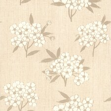 """For Your Bath II 33' x 20.5"""" Giacinto Large Floral Wallpaper"""