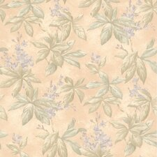 "Kitchen, Bed And Bath Resource IV 33' x 20.5"" Palma Leaf Blossom Trail Wallpaper"