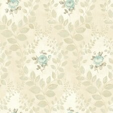 "The Cottage Darby Rose 33' x 20.5"" Cameo Wallpaper"