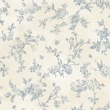 "The Cottage French Nightingale 33' x 20.5"" Toile Wallpaper"