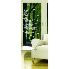 Window Decor Blossom Etched Window Sticker