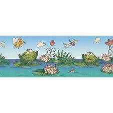 Kidding Around Frog Border Wallpaper
