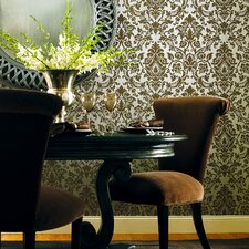 Savoy Damask Embossed Wallpaper