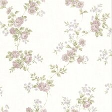 "La Belle Maison 33' x 20.5"" Blossom Rose Floral Embossed Wallpaper"